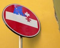 Signe d'arrêt de l'Europe avec le graffiti Image libre de droits