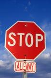 Signe d'arrêt de rue Photographie stock