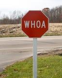 Signe d'arrêt de Whoa Photos stock