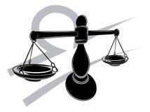 Signe d'astrologie d'horoscope de zodiaque de Balance Image stock