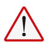 Signe d'attention Point d'exclamation sur un fond blanc Illustration de vecteur illustration de vecteur