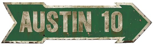 Signe d'Austin City Limits Directional Arrow Illustration Stock