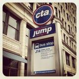 Signe d'autobus de Chicago CTA Images stock