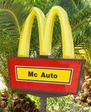 Signe d'automobile de Mc Photo libre de droits