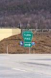 Signe d'autoroute à péage de la Pennsylvanie Photographie stock libre de droits