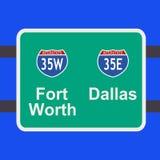 signe d'autoroute de Dallas à illustration stock