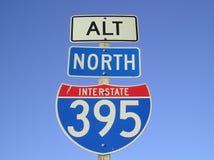 Signe d'autoroute nationale Photo libre de droits