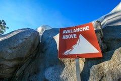 Signe d'avalanche photos stock