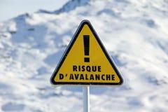 Signe d'avalanche photo stock