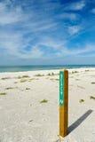 Signe d'avenue de plage photo stock