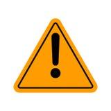 Signe d'avertissement d'une attention de danger Photographie stock libre de droits