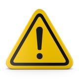 Signe d'avertissement d'une attention de risque Photos libres de droits