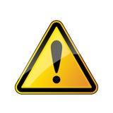 Signe d'avertissement de danger Illustration de vecteur Image stock