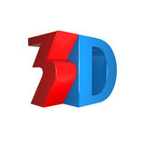 Signe 3D brillant fin Images libres de droits