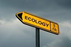 Signe d'écologie Image stock