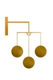 Signe d'or de prêteur sur gages Photo stock