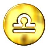 signe d'or de zodiaque de la Balance 3D Photos libres de droits