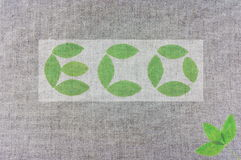 Signe d'Eco Photographie stock libre de droits