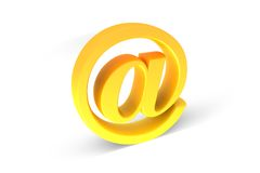 Signe d'email Images stock