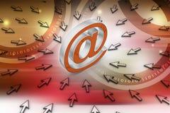 Signe d'email avec le pointeur de la souris Image libre de droits