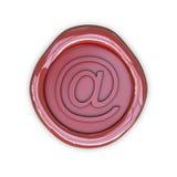 Signe d'email de cire illustration stock