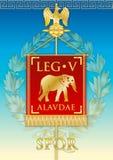 Signe d'emblème de Legio V Alaudae, Roman Empire illustration de vecteur