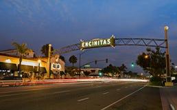 Signe d'Encinitas photographie stock libre de droits