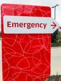 Signe d'energency d'hôpital Images libres de droits
