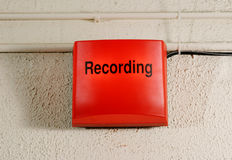 Signe d'enregistrement de studio Image libre de droits