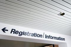 Signe d'enregistrement et d'information Images libres de droits