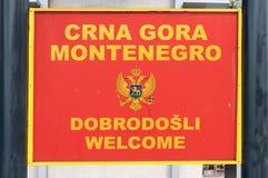 Signe d'entrée à Kotor Image libre de droits