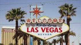 Signe d'entrée de Las Vegas - ville de Las Vegas Nevada/USA banque de vidéos