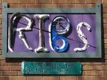 Signe d'entrée de système-- Réutilisez les bicyclettes d'Ithaca. Photo stock