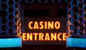 Signe d'entrée de casino Photographie stock libre de droits