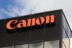 Signe d'entreprise de sièges sociaux de Canon Image libre de droits