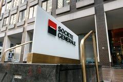 Signe d'entreprise de Societe Generale Image stock
