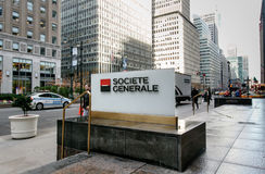 Signe d'entreprise de Societe Generale Images stock
