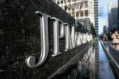 Signe d'entreprise du JP Morgan Chase Images stock