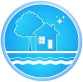 Signe d'environnement propre Photo libre de droits