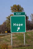 Signe d'espoir Photographie stock