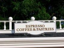 Signe d'Espresso Images libres de droits