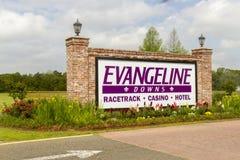 Signe d'Evangeline Downs Image libre de droits