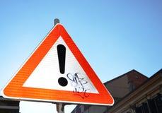 Signe d'exclamation Images libres de droits