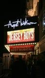 Signe d'exposition de Broadway Photographie stock libre de droits