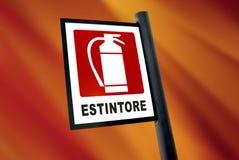 Signe d'extincteur (5) Images stock