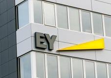 Signe d'EY Images libres de droits