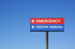Signe d'hôpital Photo libre de droits