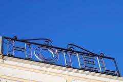 Signe d'hôtel Images libres de droits