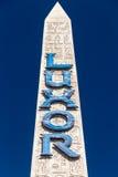 Signe d'hôtel et de casino de Louxor Las Vegas Images stock