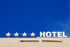 Signe d'hôtel quatre étoiles Images libres de droits